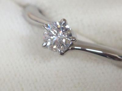 STAR JEWELRY スタージュエリー ダイヤモンドリング Pt950 0.271ct 4.5g